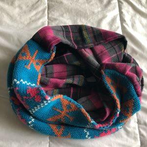 Mixed media infinity scarf